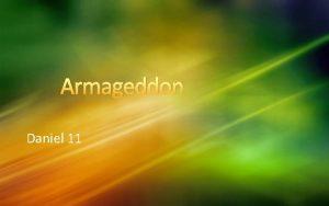 Armageddon Daniel 11 The Career of The Beast