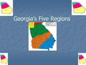 Georgias Five Regions Coastal Plains Region Location n