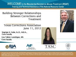 Building Stronger Relationships Between Corrections and Treatment Texas