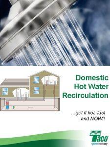 Domestic Hot Water Recirculation get it hot fast