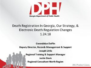 Death Registration In Georgia Our Strategy Electronic Death