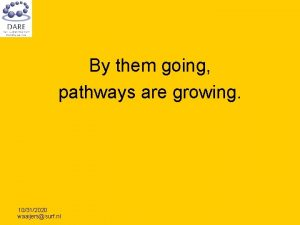 By them going pathways are growing 10312020 waaijerssurf