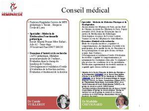 Conseil mdical Praticien Hospitalier Service de MPR pdiatrique