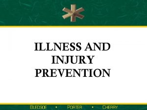 ILLNESS AND INJURY PREVENTION Topics Impact of Unintentional