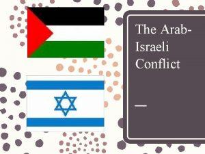 The Arab Israeli Conflict BackgroundHistory Religious origins Abraham