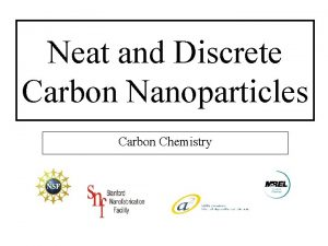 Neat and Discrete Carbon Nanoparticles Carbon Chemistry Far
