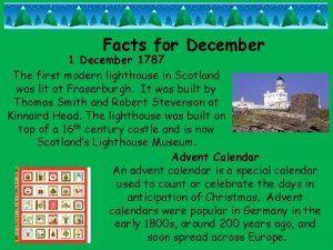 Facts for December 1787 The first modern lighthouse