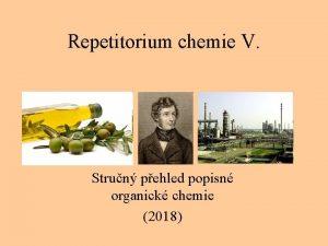 Repetitorium chemie V Strun pehled popisn organick chemie