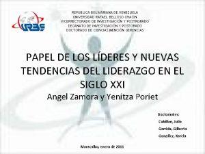 REPUBLICA BOLIVARIANA DE VENEZUELA UNIVERSIDAD RAFAEL BELLOSO CHACIN