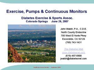 Exercise Pumps Continuous Monitors Diabetes Exercise Sports Assoc