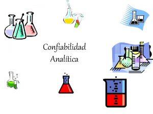 Confiabilidad Analtica Confiabilidad Analtica Los resultados analticos entregan