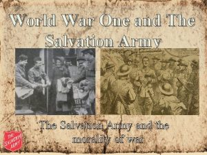 World War One and The Salvation Army and