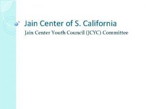 Jain Center of S California Jain Center Youth