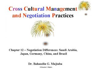 Cross Cultural Management and Negotiation Practices Chapter 12