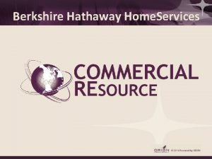 Berkshire Hathaway Home Services Commercial REsource SYSTEMS Commercial