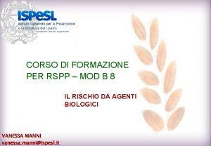 CORSO DI FORMAZIONE PER RSPP MOD B 8
