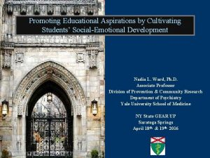 Promoting Educational Aspirations by Cultivating Students SocialEmotional Development