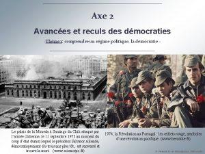 Axe 2 Avances et reculs des dmocraties Thme