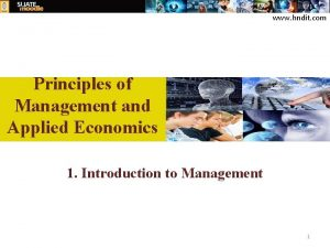 www hndit com Principles of Management and Applied