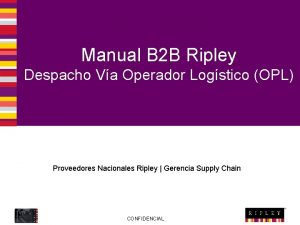 Manual B 2 B Ripley Despacho Va Operador