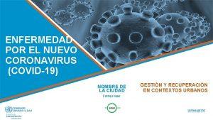 ENFERMEDAD POR EL NUEVO CORONAVIRUS COVID19 NOMBRE DE