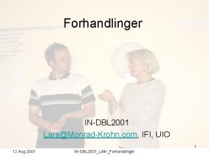 Forhandlinger INDBL 2001 LarsMonradKrohn com IFI UIO 1