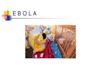 EBOLA Co je Ebola n n n hemoragick
