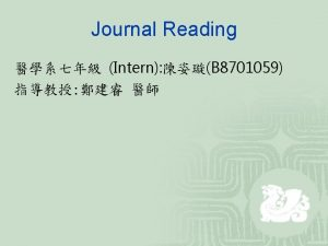 Journal Reading The American Journal of Surgical Pathology