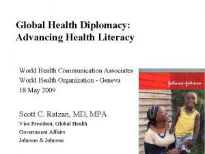 World Health Communication Associates World Health Organization Geneva