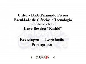 Universidade Fernando Pessoa Faculdade de Cincias e Tecnologia