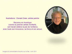 Illustrations Donald Zolan artiste peintre Reconnu en Amrique