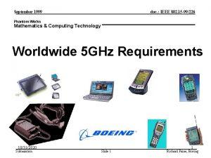 September 1999 doc IEEE 802 15 99226 Phantom
