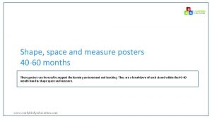 Shape space and measure posters 40 60 months