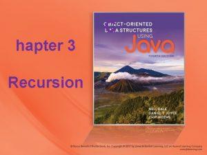 C hapter 3 Recursion Chapter 3 Recursion 3