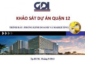 KHO ST D N QUN 12 TRI NH