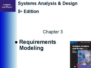 Systems Analysis Design 5 th Edition Chapter 3