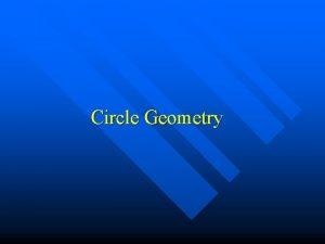 Circle Geometry Definitions secant radius diameter centre chord