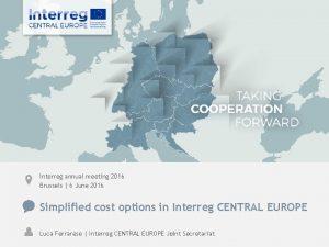 Interreg annual meeting 2016 Brussels 6 June 2016