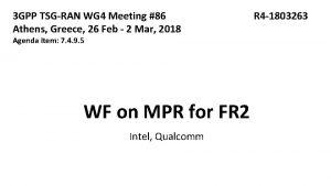 3 GPP TSGRAN WG 4 Meeting 86 Athens