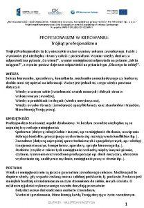 Nowoczesno i dowiadczenie Akademia rozwoju kompetencji pracownikw HS