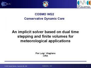 CMCC Centro EuroMediterraneo per i Cambiamenti Climatici COSMO