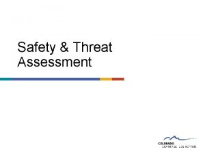 Safety Threat Assessment Threat Assessments Essentials of School