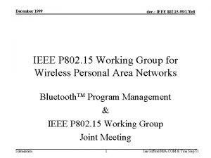 December 1999 doc IEEE 802 15 99170 r