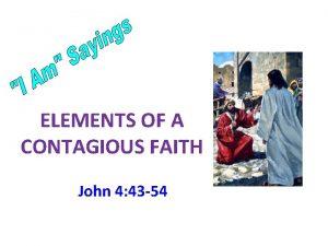 ELEMENTS OF A CONTAGIOUS FAITH John 4 43