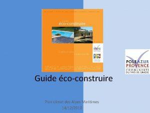 Guide coconstruire Plan climat des Alpes Maritimes 14122010