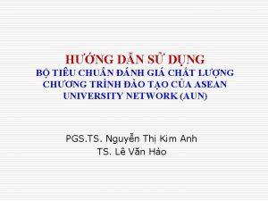 HNG DN S DNG B TIU CHUN NH