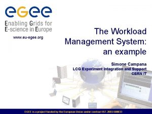 www euegee org The Workload Management System an