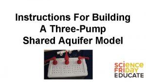 Instructions For Building A ThreePump Shared Aquifer Model