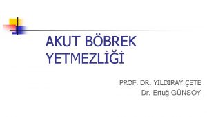 AKUT BBREK YETMEZL PROF DR YILDIRAY ETE Dr
