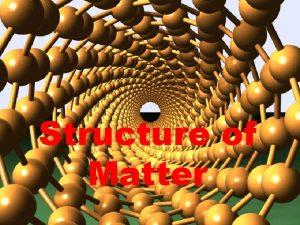 Structure of Matter Atomic Macro Atomic Macro Atomic